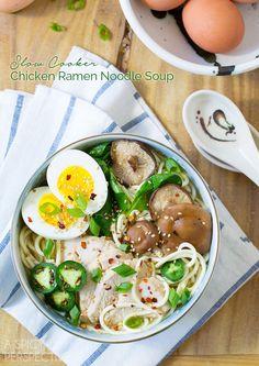 Slow Cooker Chicken Ramen Noodles Recipe #slowcooker #crockpot