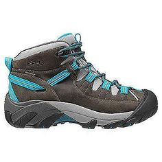 NEW KEEN TARGHEE II MID Women's Trail Shoes Boots 9 GARGOYLE CARIBBEAN SEA