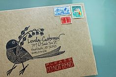 New envelopes for my shop | Flickr - Photo Sharing!
