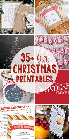Tons of Free Christmas Printables, for your Christmas decor, gift ideas, and gift tags!