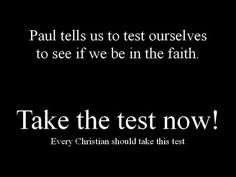 A Test that every Christian should take