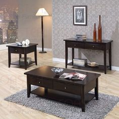Coaster Furniture - Cappuccino Occasional 4 Piece Table set