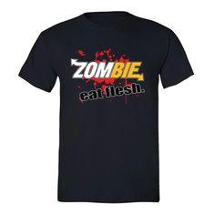 Zombie Eat Flesh T-shirt Funny Custom Parody Comedy Fresh Blood Halloween Tshirt Zombie T Shirt, Crew Neck Sweatshirt, Cute Shirts, Colorful Shirts, T Shirts For Women, Halloween Fashion, Halloween Gifts, Hoodies, Sweatshirts
