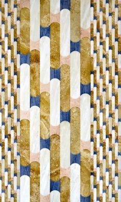 Pierres décoratives Mosaïque en marbre et onyx Biscuit, design Patricia Urquiola (Budri)