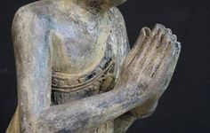 Namaskara, or Anjali mudra, is the hand gesture that evokes greeting another being with the utmost respect and adoration for the Divine in all. As you can see, the greeting is expressed in a form of prayer coming from one's heart or the third eye.     The Namaskara Mudra can be expressed with palms at the heart level or at the forehead. Why? Because only with the heart, or with a deeper spiritual insight (third eye) can one truly see that we are all expressions of the same light.
