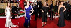 Celebrities wear Salvatore Ferragamo Accessories to the SAG Awards #Fashion #Celebs #Accessories
