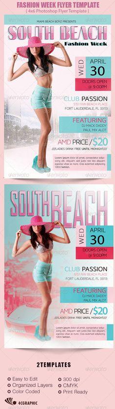 Fashion Week Flyer Template - $6.00