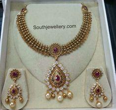 antique necklace with cz stones