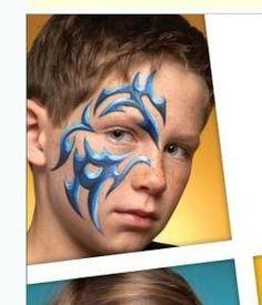 Afbeeldingsresultaat voor jongens schmink stoer