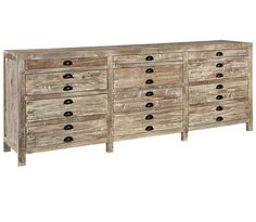 Apothecary Reclaimed Wood 12 Drawer Storage Chest. I love the rustic finish on the reclaimed wood with the clean, simple, modern lines. I cannot wait for it to arrive!!!Another great rustic modern piece from Zin Home. I think eventually my whole house will be Zin Home furniture...