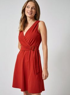 Honest Hot Ladies New Arrival Sleeveless V-neck Office Dresses Womens Summer Casual A-line Cute Dress Plus Size Sexy Red Dress Vestidos Women's Clothing