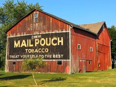 Mail Pouch barn in Deerfield, Ohio.