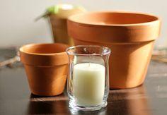 Candle And Flower Pot Centerpiece | Hometalk
