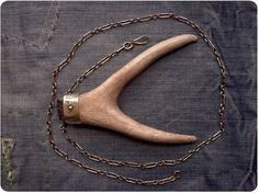 Double Antler Pendant with Silver Cap by LeadvilleAmerica on Etsy, $150.00