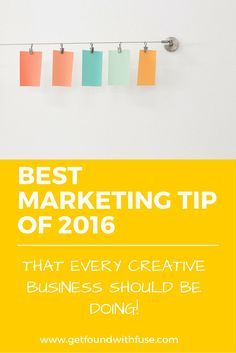 The number one marketing tip every creative entrepreneur should be doing for 2016 is VIDEO! yes I know video may make you want to cringe but with so many options now a days, video can be really easy to do, I share 15 ways to use video for your small business.  http://getfoundwithfuse.com/video-marketing-tips-bloggers/
