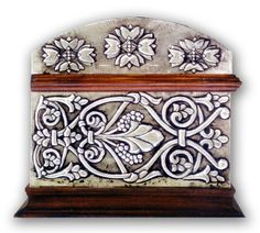 FLORAL CHEST 2 - SIDE.    Embossed chest with with floral motives (classical greek)  30 x 22 x 20 cm.    See Complete Here: [link]