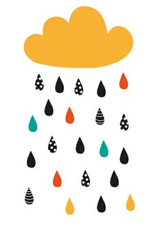 A rainy day Art Print