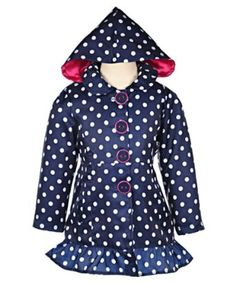 "Pink Platinum ""Absolutely Dotty"" Raincoat"