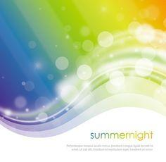 Fantastic Summernight Vector Background