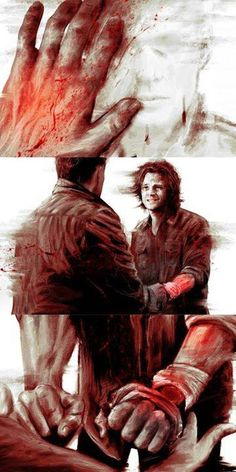 """This. I really love it. #S8Finale """"It's in me, Dean. You don't know what this feels like."""""""