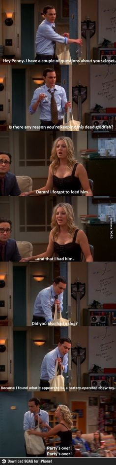 The chew toy - Sheldon and Penny ...The Big Bang Theory