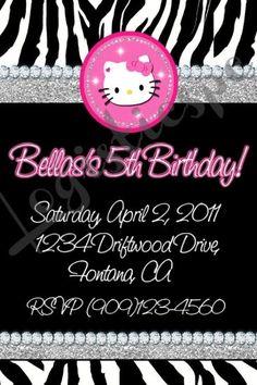 Hello Kitty Zebra Invitation U-Print