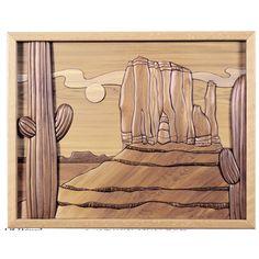 I-45 Arizona Scene Intarsia Woodworking Pattern JGR