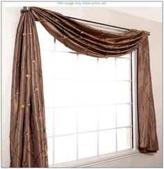 Double Scarf Swag Window Valance Ideas Valance Ideas