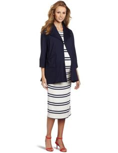 7d4d6da8636a7 MORE of me Womens Maternity Marlow Swing Jacket Navy XSmall >>>