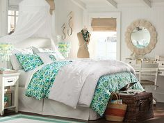 I love the PBteen Gabriella Crinkle Bedroom on pbteen.com