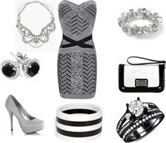 """""""Grey, Black, White"""" by alexis-booker ❤ liked on Polyvore"""