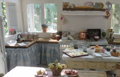 1:12th scale miniature kitchen (love this) from Cynthia's Cottage Designs