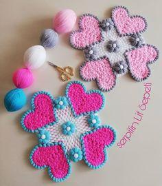Çok Sipariş Alan Lif Örgü Modelleri Laddu Gopal, Crochet Bedspread, Diy And Crafts, Crochet Earrings, Knitting, Create, Jewelry, Instagram, Crochet Flowers