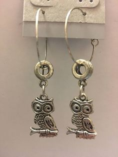 Adorable owls beaded Earring, drop earring, dangle earring, silver earring, trendy jewelry, owl jewelry, silver jewelry,handmade by dawnsbeadsdesigns. Explore more products on http://dawnsbeadsdesigns.etsy.com