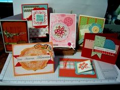 All Stampin' Up! Love the dsps and the cs and all the dies punches and embellies!!