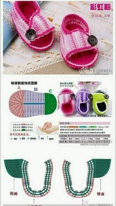 scarpine bambini schema grati free tutorial crochet uncinetto bambole filati lavori femminili giochi pupazzi bomboniere abbigliamento