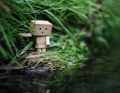 Amazon Box Robot Crossing The River