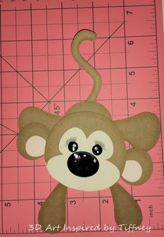 B068 3D Hand Cut Paper Piecing Jungle Monkey Zoo Scrapbooking Cardmaking - Pre-Made Pages & Pieces
