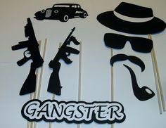DIY- 15 Photo Booth Props Gangster Good Fellas Mob Guns Cigarette (2094D) | Home & Garden, Wedding Supplies, Venue Decorations | eBay!