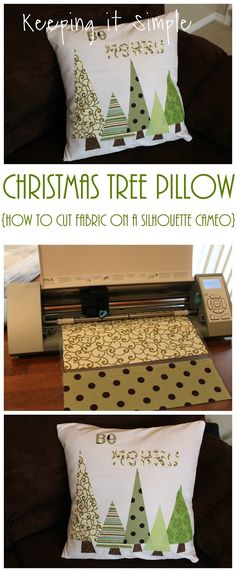Keeping it Simple: Christmas tree pillow and fabric interfacing tutorial