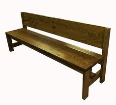 Farmhouse Dining Room Bench With Back Ideas Dining Bench With Back, Farmhouse Table With Bench, Farmhouse Kitchen Tables, Dining Room Bench, Farmhouse Furniture, Diy Furniture, Table Bench, Bench Seat, Dining Tables
