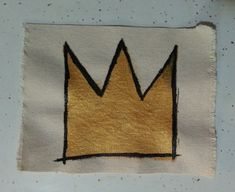 Basquiat Crown Sewon Patch by Americareful on Etsy, $9.00