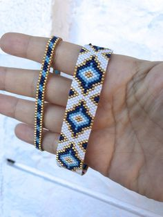 Miyuki Beaded Special Designed Bracelet, Bracelet for women, unique gift beaded miyuki bracelet Miyuki Perlen Special Designed Bracelet Armband für Frauen Bracelets Design, Loom Bracelets, Diamond Bracelets, Gemstone Bracelets, Silver Bracelets, Diamond Earrings, Jewelry Bracelets, Bracelet Set, Beaded Bracelets