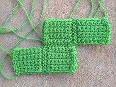 S crochet tetrimino, crochetbug, crochet squares, crochet tetris blanket, crocheted, crocheting