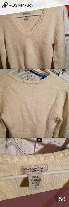 ☡ Price drop - Banana Republic Wool Stylin Closet Pick 8 ✏  Banana Republic stretch (96%) wool ➿ Pre-owned 〰 New Flawless Banana Republic Tops Sweatshirts & Hoodies