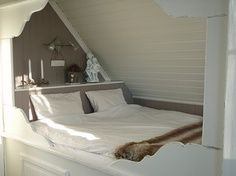 Built in Beds in Attic | built in bed under eaves