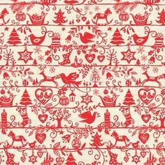 The Henley Studio - Scandi Christmas - Silhouttes in Red