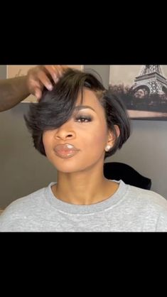 Loving this dope relaxer and bob transformation by @missprettynish 👌🏾 @haveagooddaey looks so pretty and her reaction to her new look is everything 😍 Hair Color And Cut, Relaxer, Cut And Style, 5 Ways, Bob Cut, Wig Hairstyles, Hair Trends, African Fashion, New Look