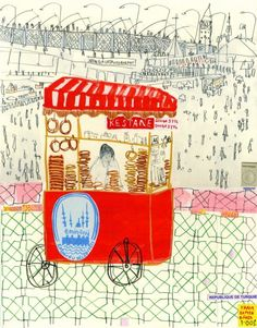 Clare Caulfield, 'Trolley Seller, Istanbul'