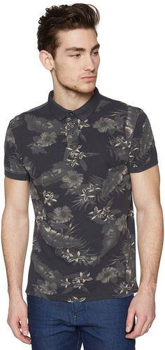Polo-Shirt mit floralem Print für Männer (gemustert, kurzärmlig mit Polo-Kragen und halber Knopfleiste) aus Pique-Stoff, mit seitlichen Schlitzen am Saum, dezente Logo-Stickerei hinten. Material: 100 % Baumwolle...
